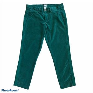 Land's End Canvas Emerald Green Super Skinny Pants